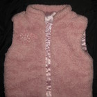 жилет меховый розовый, на 3-9 мес