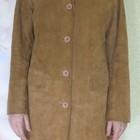 Пальто замшевое рыжее