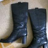 Фирменные натуральные кожаные сапоги 39р. 25,3 см. Dick Boons