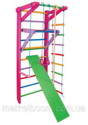 Спортивный уголок ,спортивный комплекс для детей,шведская стенка Барби 3-220