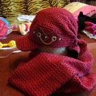кепка с шарфиком новые