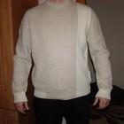 Нарядная мужская светлая кофта, шерсть, размер M-L