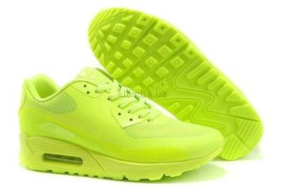Женские кроссовки Nike Air Max 90 Hyperfuse салатовые