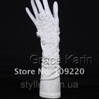 Свадебные перчатки без пальцев 100% бренд