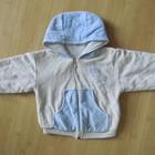 куртка кофта велюровая на мальчика 9-18 мес отл. сост.