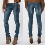 Стильные джинсы c карманчиками BERSHKA идут на 24-25р худенькую девочку