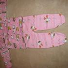 Новий костюмчик теплий на байці повзуночки і кофточка р.68 подарунок