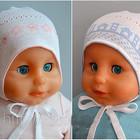 Новые тонкие вязаные шапочки для самых маленьких, Хлопок. Мягенькие, приятные, разные цвета
