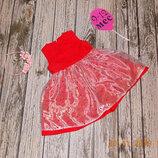 Нарядное платье для девочки 9-12 месяцев , 80 см