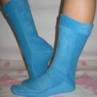 Флисовые удлинённые носки гольфы. Очень тёплые.