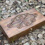 Нарды резьбленные, ручной работы, деревянные нарды, нарди