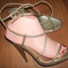 Выбор обуви 38р-25 см Эксклюзивные босоножки кожа Clara Bruni Италия