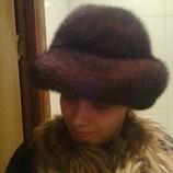 Норковая шапка в виде шляпки