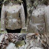 куртка Tavena 100% Оригинал Италия торг подстёжка-натуральный мех Енота и кролика р. М48-42-14