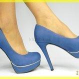 Супер стильные Брендовые Туфли синие - KVIN TINA