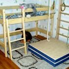 Двухъярусная кровать-чердак из сосны высота - 122см