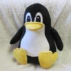 Мягкая игрушка - подушка пингвин Linux ручная работа