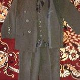 Школьная форма костюм . Пиджак, брюки и жилетка. Для мальчика 5-12 лет. Продажа возможна по частям.