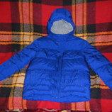 Теплющая ярко-синяя Vogele и серая зимняя куртка Donilo 140-158 см