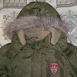 Теплая куртка на 7-8 лет, на рост 128 см и 140 см