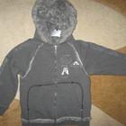 Демисезонная трикотажн. курточка- худи на искуст.меху,верх ткань р-122