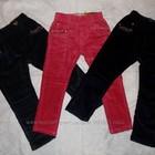 Зимние вельветовые брюки для девочек. 98-128см.