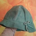 Шляпа ярко-зеленая замш