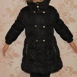 Теплая курточка для девочки,3-4 лет, размер 98,104