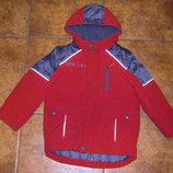 Теплая красная и модная новенькая деми куртка-дутик H&M, рост 104-110