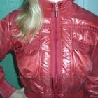 куртка стеганая красная перламутр