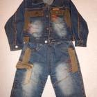 Джинсовый костюм в хорошем состоянии 1-1.5 года