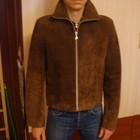 натуральная замшевая стильная куртка на парня