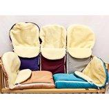 Меховой конверт зимние на овчине для малышей в коляску, санки