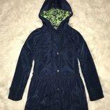 Удлиненная демисезонная куртка Next. 8-9 лет. Курточка, парка, пальто.