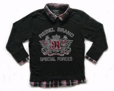 Реглан Rebel на 4-5 лет. Стильная рубашка для мальчика.