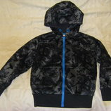 Теплая куртка-ветровка- дождевик серая и Адидас недорого рост 122-134 см