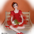 Эмма - балерина.Текстильная кукла, ручной работы, handmade