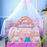 балдахин на детскую кроватку для детской кроватки на всю кровать 4,5м. вуаль фатиновый из фатина