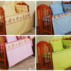 Красивое постельное белье для детской кроватки