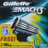 Лезвия Gillette Mach 3 1шт