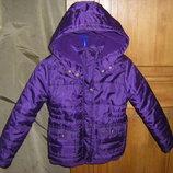 Теплая осенне-зимняя курточка джордж для модницы ростом 104-116 см