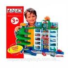 Детский игровой гараж 922 6 уровней парковки, 4 машинки