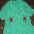 Пальто кардиган вязанный