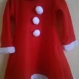 Платье снегурочки р 100-120см