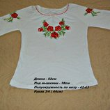 Красивая блуза-вышиванка Маки