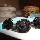 Набор серебро Черная роза