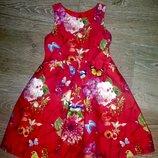 Шикарное, стильное платье Next. 5-6 лет. Нарядное, праздничное платье для девочки. Пышное, красивое