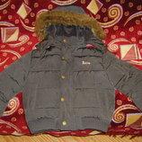 Красивая теплая куртка не на один сезон 92 - 116 см