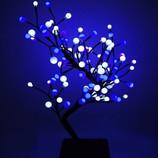 Лучший подарок к празднику Светодиодное дерево с вазоном БОНСАЙ 60 см белый