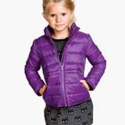 лиловая деми куртка -жакетик от H&M для девочек